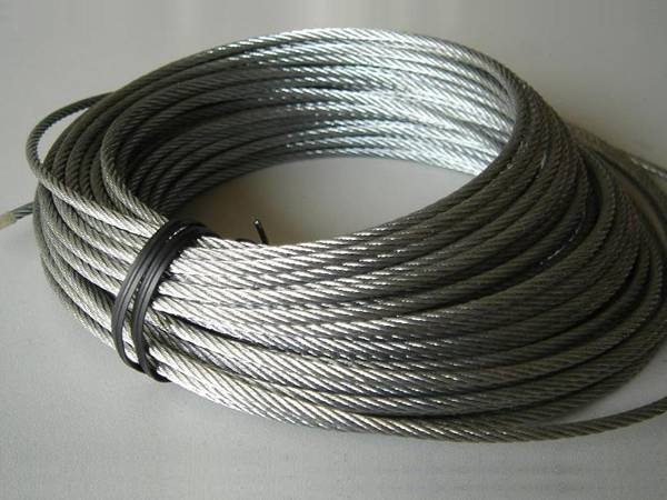 A coil of supporting rope.