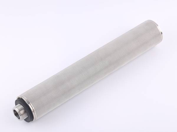 A tube shape sintered wire mesh.