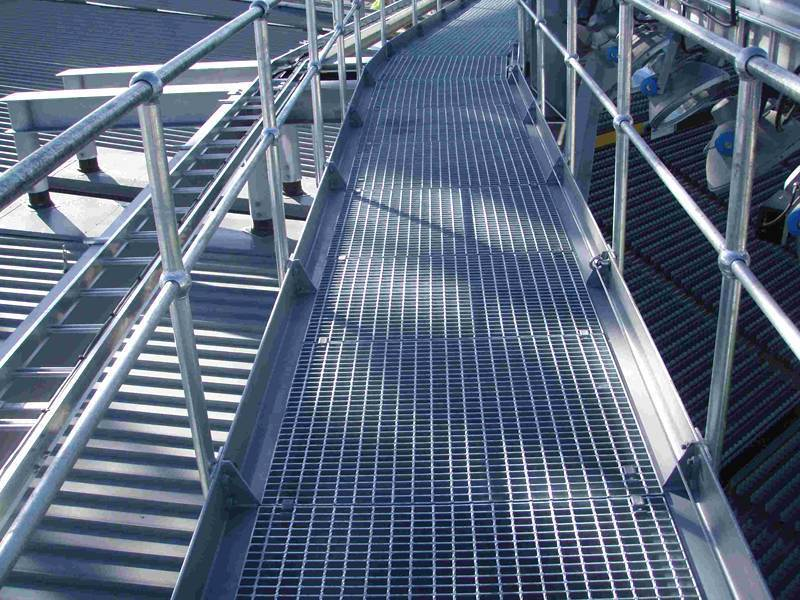Welded Steel Grating For Stair Tread Walkway Floor Platform