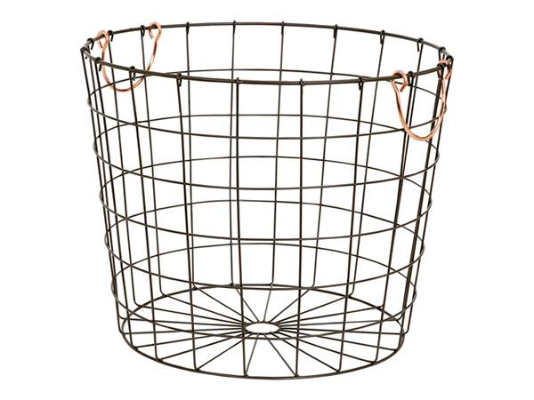 Cylindrical storage basket.