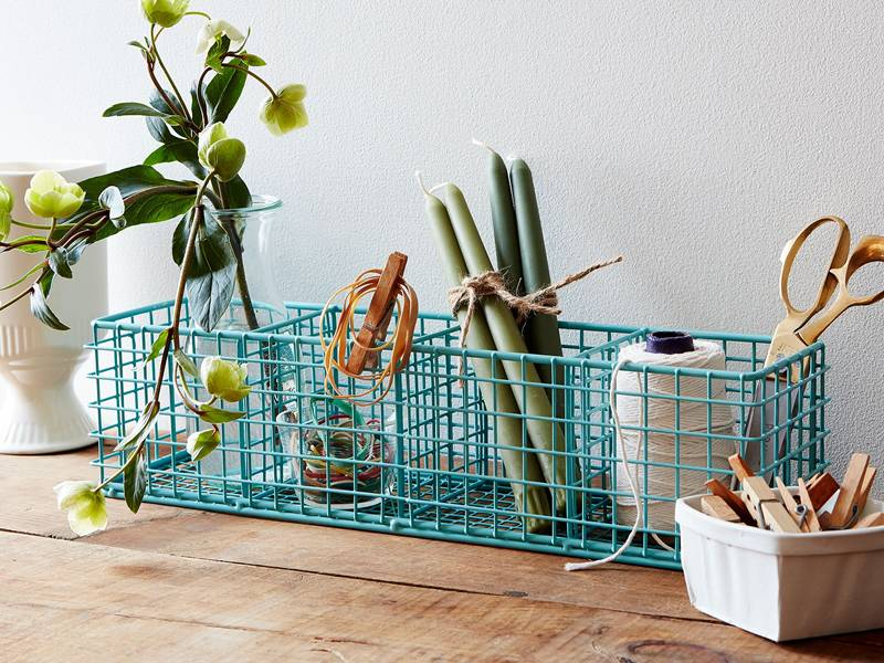 Wire Display Basket Used to Contain Bread, Merchandise, Plant Potted