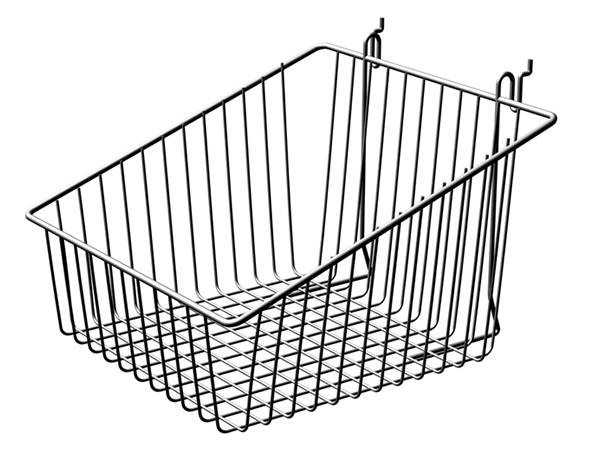 Trapezoidal display basket, the bottom mesh is square and four sides are rectangle.