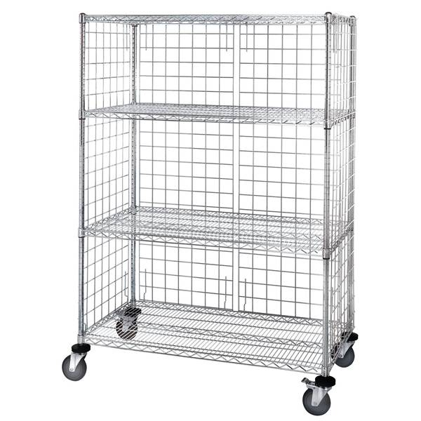 Wire Shelving Cart – Store or Transfer Goods in Home, Hospital, Library